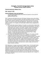 OswegoDL: The SUNY Oswego Digital Library Penfield Library Project Plan