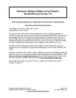 Emergency Refugee Shelter at Fort Ontario: Jewish Haven at Oswego, NY Bibliography