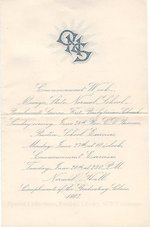 1887 Oswego State Normal School Commencement announcement
