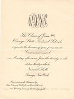 1896 Oswego State Normal School commencement invitation