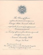 1897 Oswego State Normal School commencement invitation