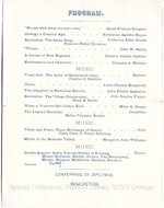 1897 Oswego State Normal and Training School Commencement Exercises program.