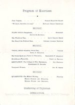 1898 Oswego State Normal and Training School Commencement Exercises program