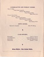 1902 Oswego State Normal &Training School Commencement Exercises program