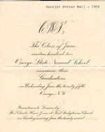 1902 Oswego State Normal School graduation announcement