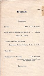 1906 Oswego State Normal &Training School Commencement Exercises program
