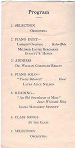 1907 Oswego State Normal &Training School Commencement program