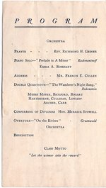 1907 Oswego State Normal and Training School Commencement Exercises program