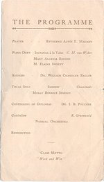 1908 Oswego State Normal &Training School Commencement Exercises program
