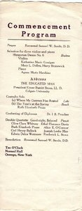 1913 Oswego State Normal and Training School Commencement program