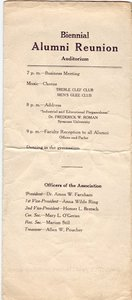 1916 Oswego State Normal &Training School Commencement program