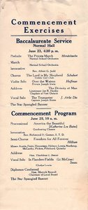 1918 Oswego State Normal and Training School Commencement program