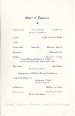 1925 Oswego State Normal School Mid-Year Commencement Program