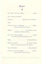 1931 Oswego State Normal School Seventieth Annual Graduation Program
