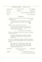 1933 Oswego State Normal School Graduation Exercises progam
