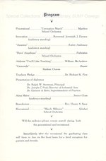 1935 Seventy-Fourth Oswego Normal School Commencement program