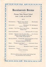 1936 Baccalaureate Service program