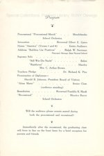 1937 Oswego State Normal School Commencement program