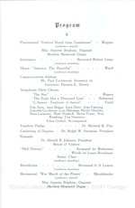 1943 Oswego State Teachers College Commencement + Baccalaureate programs