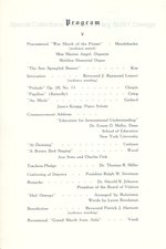 1946 Oswego State Teachers College Commencement + Baccalaureate programs
