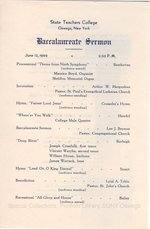 1949 Oswego State Teachers College Commencement + Baccalaureate programs