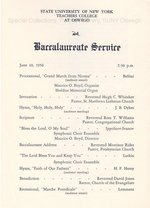 1956 SUNY Teachers College at Oswego + Baccalaureate Service programs