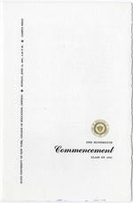 1961 SUNY College of Education Commencement program