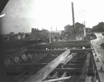 Goble shipyard.  Building dred