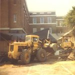 Building being razed.