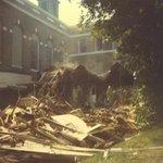 Building being razed.