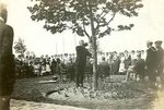 Dedication of memorial trees