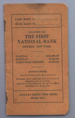 Inside back cover of bank book