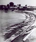 Wooden dam at Caughdenoy