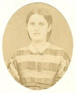 Small oval portrait of unknown female.