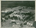 Aerial view of campus, 1940s