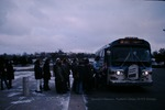 Students getting on the bus