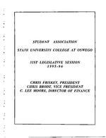 31st Session (1995-96) Legislative Documents
