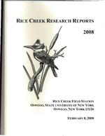 Rice Creek Research Reports, 2008
