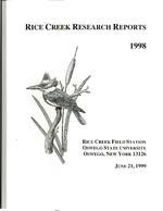 Rice Creek Research Reports, 1998