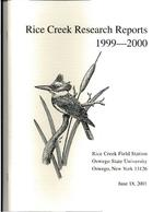 Rice Creek Research Reports, 1999-2000