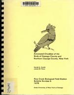 Rice Creek Research Bulletin No. 5: Annotated Checklist of the Birds of Oswego County and Northern Cayuga County, New York