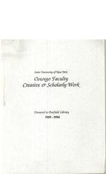 State University of New York Oswego Faculty Creative & Scholarly Work: 1989 - 1994