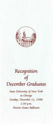 1988 - December - PM - Commencement - SUNY Oswego
