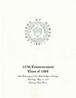 1988 - May - AM - Commencement - SUNY Oswego