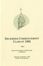 1991 - December - AM - Commencement - SUNY Oswego