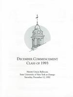 1992 - December - AM - Commencement - SUNY Oswego