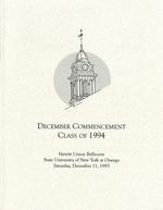 1993 - December - AM - Commencement - SUNY Oswego