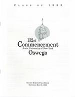 1993 - May - AM - Commencement - SUNY Oswego