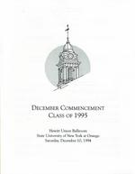 1994 - December - AM - Commencement - SUNY Oswego