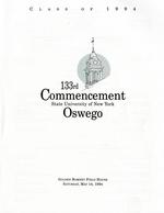 1994 - May - AM - Commencement - SUNY Oswego